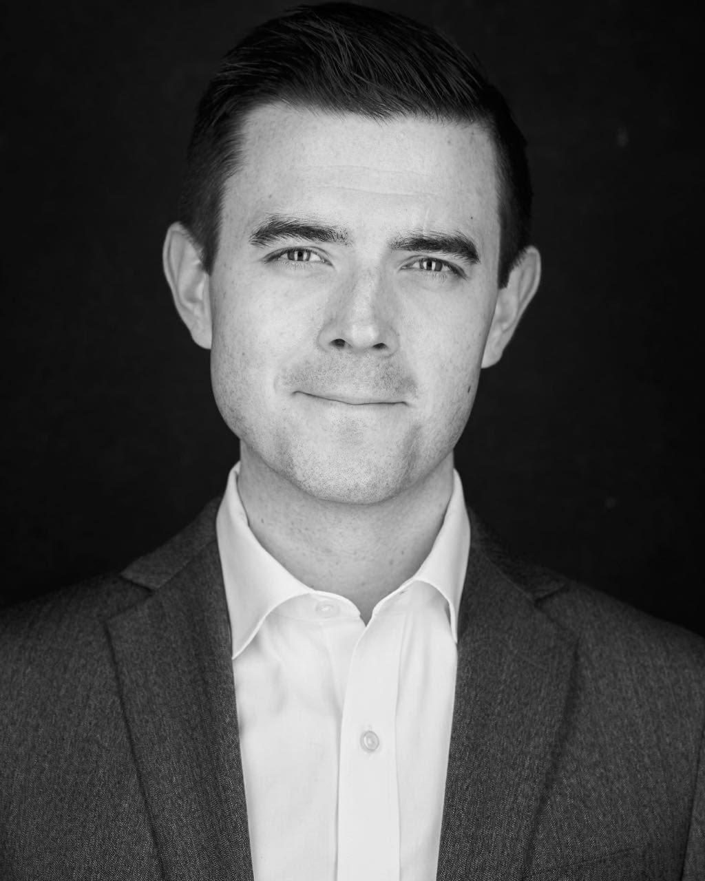 Black and White Corporate Portrait Headshot