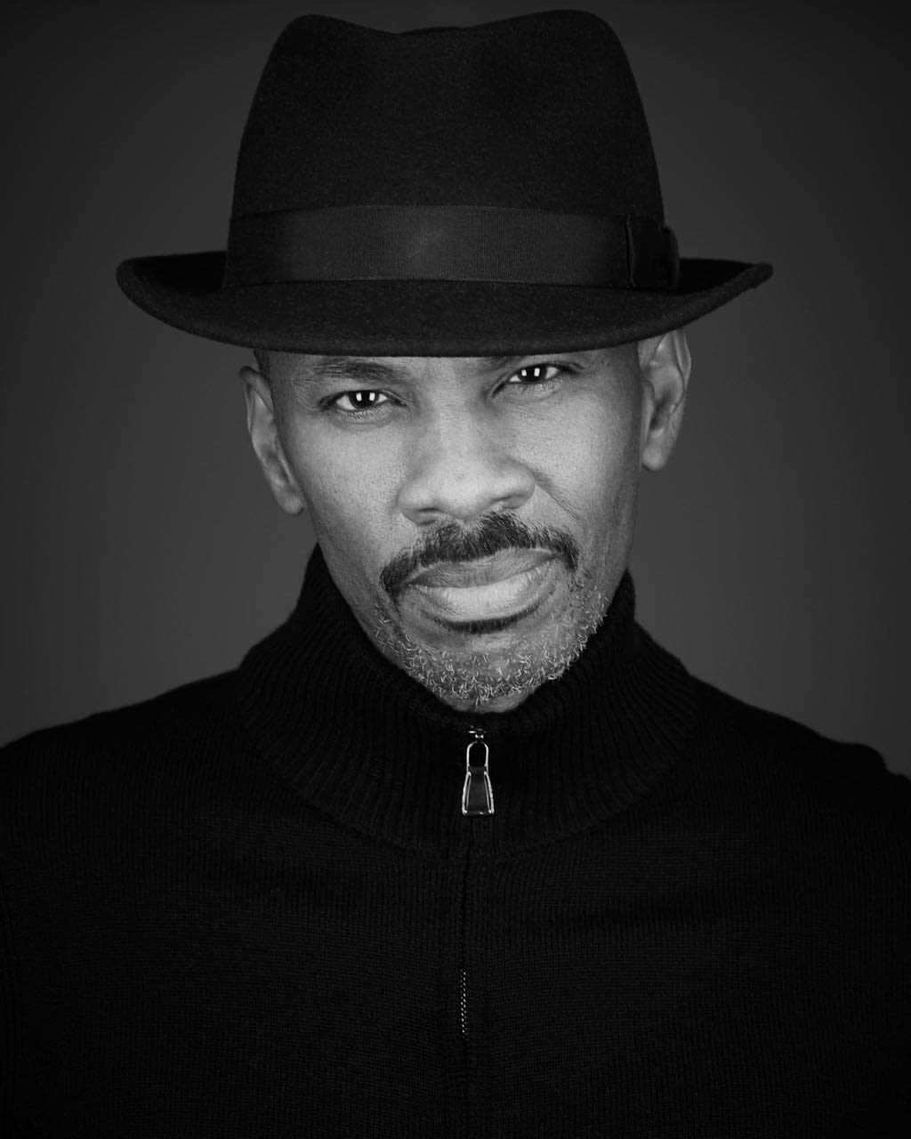 Black and White Hat Headshot