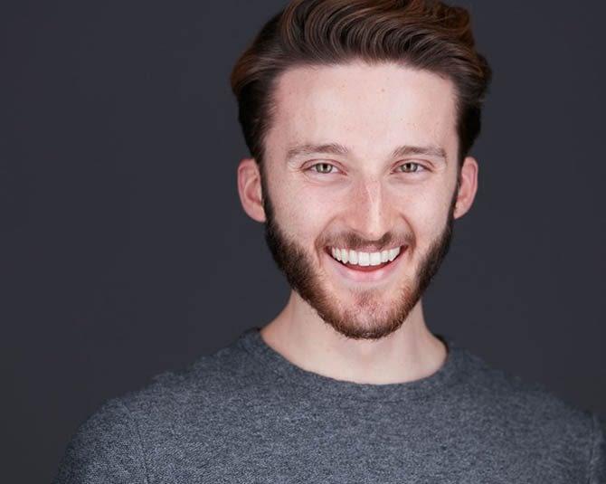Modern Male Headshot Grey Background