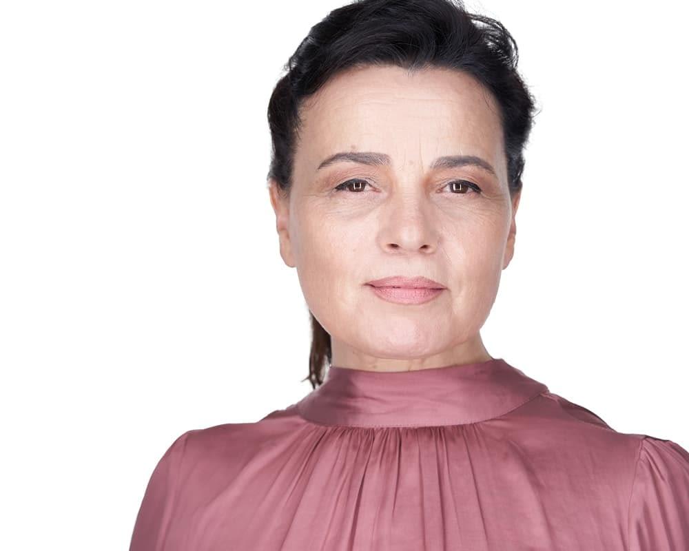Professional Dancer Headshot On White Background