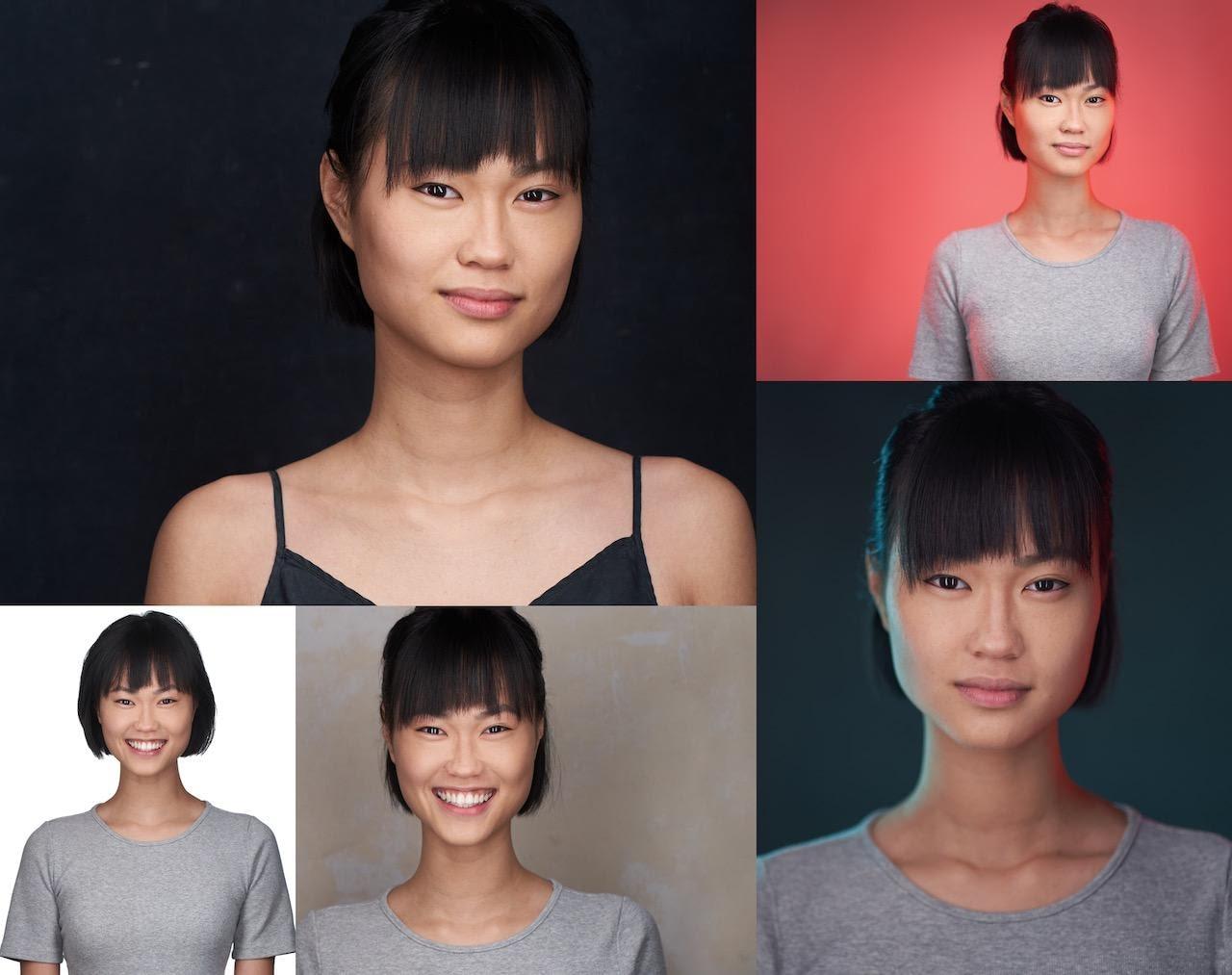 Acting Headshots Collage