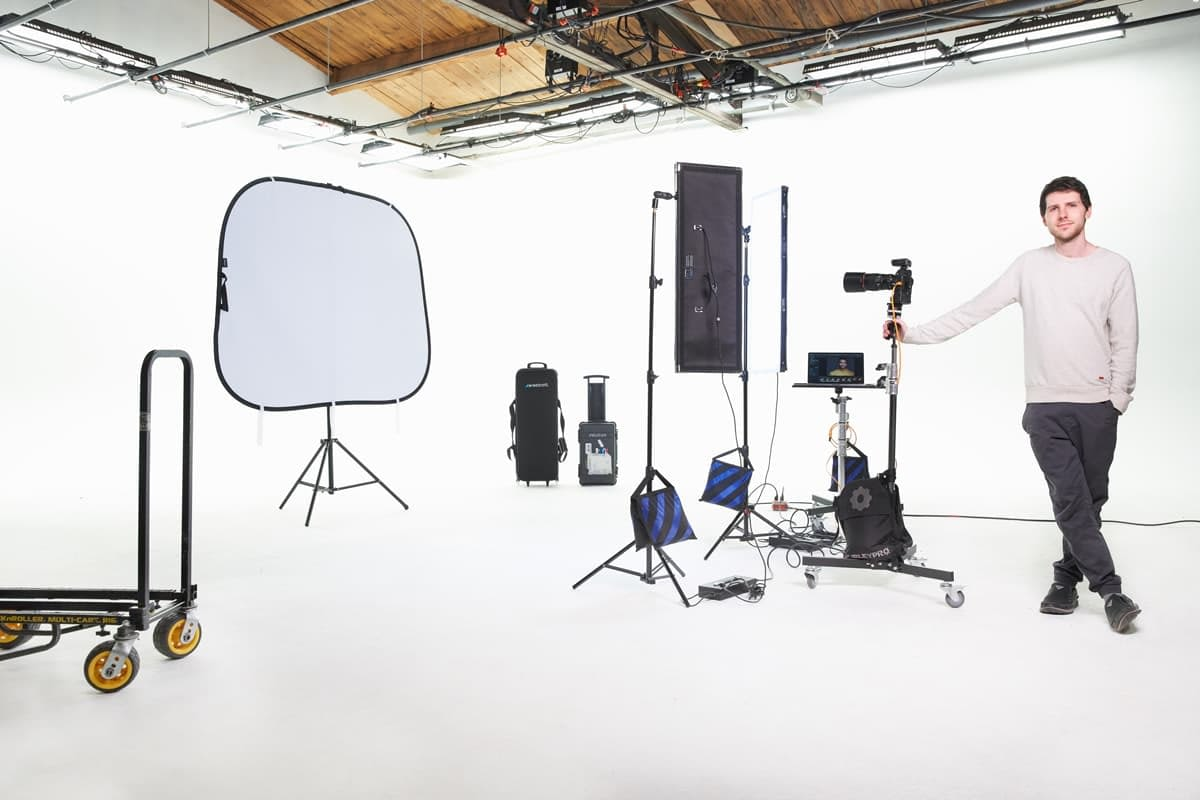 Photographer portrait setup