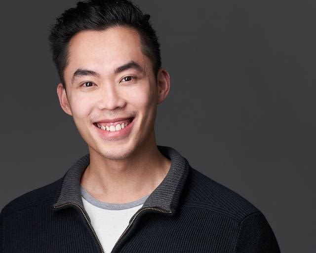 Young Professional Actor Headshot Grey Background